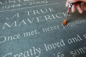 gilding headstone